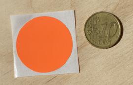 Ronde stickers 3 cm helder oranje per 1, 5, 10, 25, 50 of 100 stuks, vanaf
