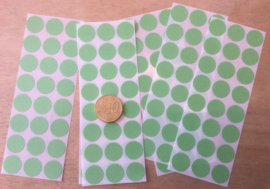 24 Ronde stickers appeltjes groen 13 mm
