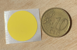 Ronde stickers 2 cm helder geel per 1, 5, 10, 25, 50 of 100 stuks, vanaf