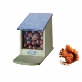 Squirrel feeder zinc roof