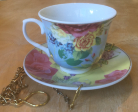 Bird feeder TEACUP BLUE
