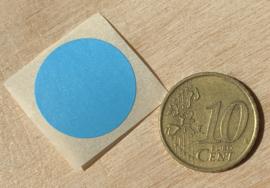 Ronde stickers 2 cm licht blauw per 1, 5, 10, 25, 50 of 100 stuks, vanaf
