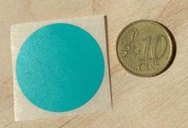 Ronde stickers 3 cm tuqoise groen per 1, 5, 10, 25, 50 of 100 stuks, vanaf