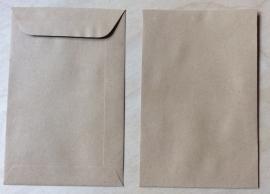 1 Bruin envelop loonzakje 9,5 cm bij 14,5 cm