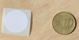 stickers 2 cm Wit, 1, 5, 10, 25, 50 of per 100 stuks, vanaf