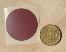 Ronde stickers 3 cm donker bruin per 1, 5, 10, 25, 50 of 100 stuks, vanaf