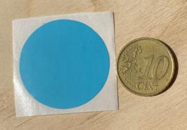 Ronde stickers 3 cm licht blauw per 1, 5, 10, 25, 50 of 100 stuks, vanaf
