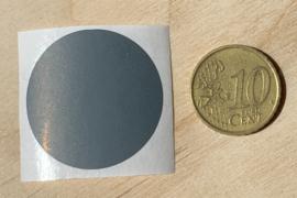 Ronde stickers 3 cm donker grijs per 1, 5, 10, 25, 50 of 100 stuks