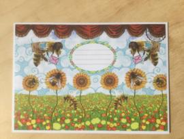 Enveloppe Bee Loved mét of zonder bijzondere kaart en sluitzegel