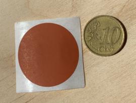 Ronde stickers 3 cm licht bruin per 1, 5, 10, 25, 50 of 100 stuks, vanaf