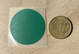 Ronde stickers 3 cm donker groen per 1, 5, 10, 25, 50 of 100 stuks, vanaf