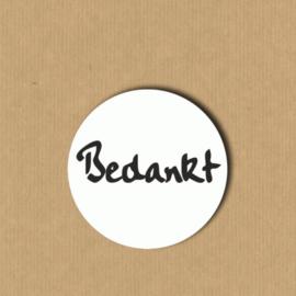 5 bedankt-stickers rond 3, 9 cm