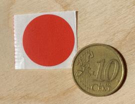 Ronde stickers 2 cm rood per 1, 5, 10, 25, 50 of 100 stuks, vanaf