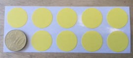 10 Ronde stickers  geel 19 mm