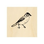 Walking Bird Stamp 25 mm