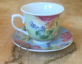 Bird feeder TEACUP GREEN
