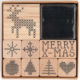 Christmas Cross Stiches Set