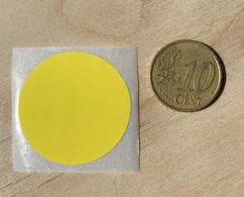 Ronde stickers 3 cm helder geel per 1, 5, 10, 25, 50 of 100 stuks, vanaf