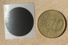 Ronde stickers 2 cm zwart per 1, 5, 10, 25, 50 of 100 stuks, vanaf