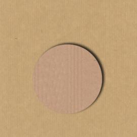 5 Kraft stickers rond 3,5 cm blanco
