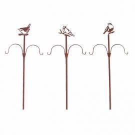 Rusted bird feeder pole