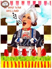 CT 174 ansichtkaart, Ik hou van Holland