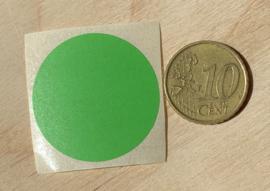 Ronde stickers 3 cm helder groen per 1, 5, 10, 25, 50 of 100 stuks, vanaf