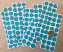 24 Ronde stickers donker groen 13 mm