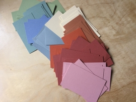 10 Cards assorted: 6,4 by 10,4 cm