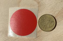 Ronde stickers 3 cm rood per 1, 5, 10, 25, 50 of 100 stuks, vanaf