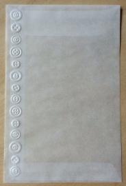 KNÖPFEN KANTE 10 Pergamin umschläge und braune löhntute