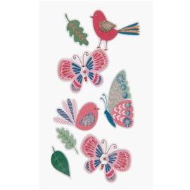 3D Sticker Vögel und Schmetterlinge