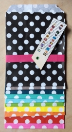 10 Gift Bags  DOTS, 13 by 16,5 cm
