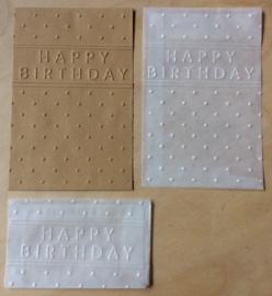 HAPPY BIRTHDAY 10 Pergamin umschläge und braune löhntute
