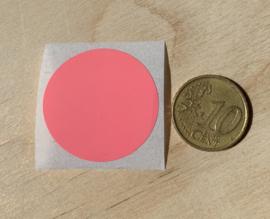 Ronde stickers 3 cm helder rose per 1, 5, 10, 25, 50 of 100 stuks, vanaf