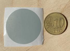 Ronde stickers 3 cm licht grijs per 1, 5, 10, 25, 50 of 100 stuks
