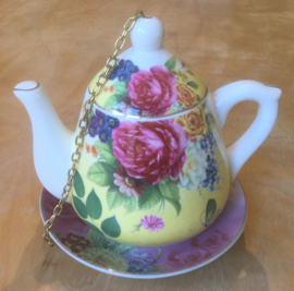 Bird feeder TEAPOT YELLOW