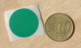 Ronde stickers 2 cm donker groen per 1, 5, 10, 25, 50 of 100 stuks, vanaf
