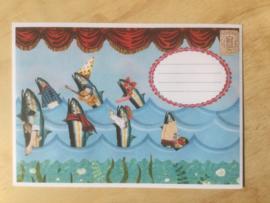 Enveloppe vissen  mét of zonder bijzondere kaart en sluitzegel