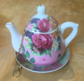 Bird feeder TEAPOT ROSE