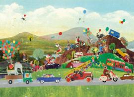 Autoparade feest