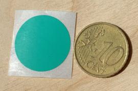 Ronde stickers 2 cm turqoise groen per 1, 5, 10, 25, 50 of 100 stuks, vanaf
