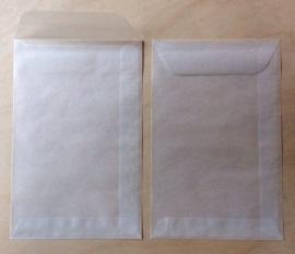 1 Pergamijn / transparante envelop zakje 9,5 cm bij 14,5 cm