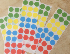 24 Ronde stickers varia 12 mm