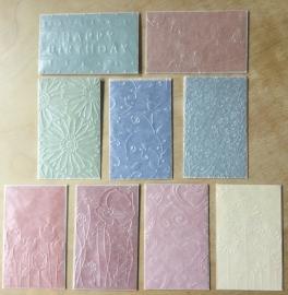 10 Karten gemischt: 6,4 - 10,4 cm