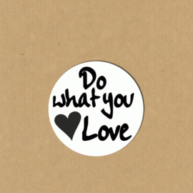 5 'Do what you love'-stickers rond 3,9 cm