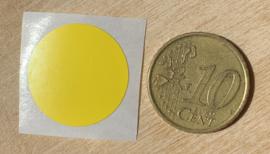 Ronde stickers 2 cm geel per 1, 5, 10, 25, 50 of 100 stuks, vanaf
