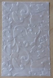BLUMEN BAROCK 10 Pergamin umschläge und braune löhntute