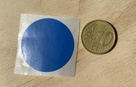 Ronde stickers 3 cm donker blauw per 1, 5, 10, 25, 50 of 100 stuks, vanaf