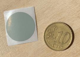 Ronde stickers 2 cm licht grijs per 1, 5, 10, 25, 50 of 100 stuks, vanaf